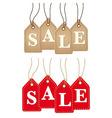Retro paper sale tags vector