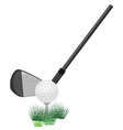 Golf ball and club vector