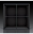 Shelf black vector