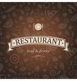 Retro brown restaurant menu vector
