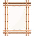 Framed bamboo banner vector