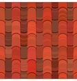 Seamless red clay roof tiles vector