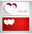 Postcards with hearts vector