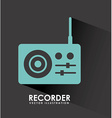 Recorder design vector