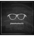 Vintage with sunglasses sign on blackboard vector
