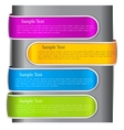 Colorful bookmarks for speech colorful paper vector