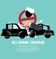 No drink driving vector