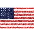American flag of usa vector