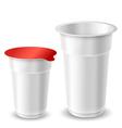 Yogurt cups vector