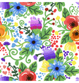 Seamless background with flowers ornament vector