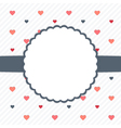 White and blue template card with hearts vector