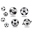 Cartoon soccer or football balls vector