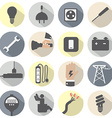 Flat design electricity power icons set vector