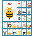 Set of cards with alphabet phonemes vector