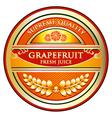 Grapefruit juice label vector
