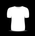 Blank t shirt white template vector