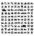 Big transportation icons vector