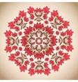 Ethno round pastel ornament vector