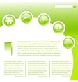 Website business template in green vector