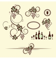 Winery design objects set vector