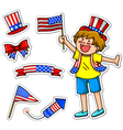 American kid small vector