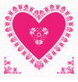 Valentines day card with flower hearts vector
