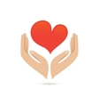 Hands love protect poster vector
