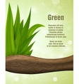 Green leaves of the wood vector