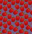 Seamless cute shiny bell pepper pattern vector