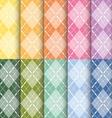 Clorful plaid pattern vector
