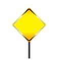 Blank warning road sign vector