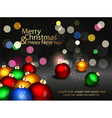 Christmas background with colored balls vector