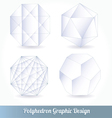Polyhedron for graphic design vector