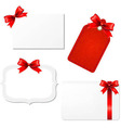 Big set blank gift tags vector