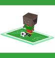 Soccer cartoon boy vector