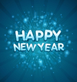 3d happy new year message vector