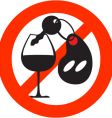 Stop alcohol sign vector
