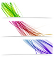 Colorful swoosh speed wave line banner collection vector