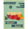 Confectionery retro design vector