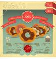 Donuts menu vector