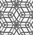 White geometrical detailed with gray net on gray vector