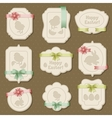 Set of easter labels tags with bows and ribbons vector