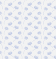 Hand drawn floral wallpaper with set of different vector