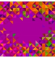 Abstract geometric background trendy mosaic vector