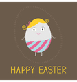 Easter painted egg card vector