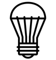 Led light bulb icon vector