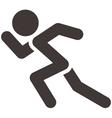 Running icon vector