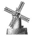 Old mill logo design template flour wheat vector