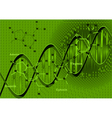 Background with dna vector