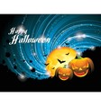 Halloween party background with pumpkins and moon vector